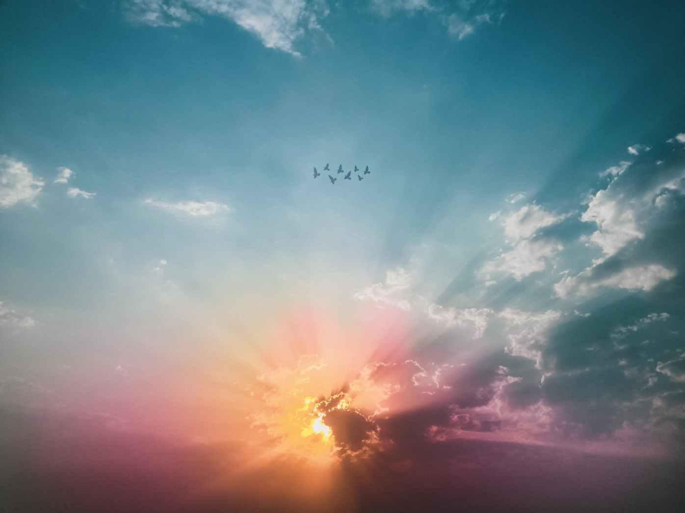 sea of clouds sunrise wallpaper
