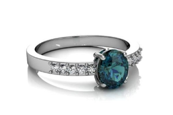 Birthstone Engagement Rings are In