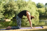 Fertility Yoga - Finding the centre of gravity whilst releasing tension in the back and honouring my womb