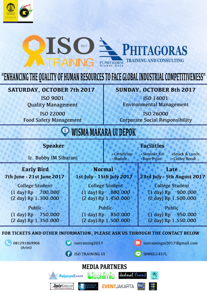 """ISO TRAINING 2017 dengan tema """"Enhancing The Quality of Human Resources to Face Global Industrial Competitiveness"""""""