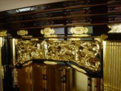 仏壇の洗濯(クリーニング)完成の写真 仏壇の彫り物