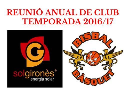 Reunió General club juny 2016