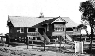 Bulimba State School's 1915 C Block was relocated prior to their new 10 GLA and Library building by Biscoe Wilson Architects
