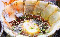 茶らく「真鯛とアジのぶっかけ茶漬け」