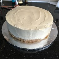 Biscoff and white chocolate cheesecake