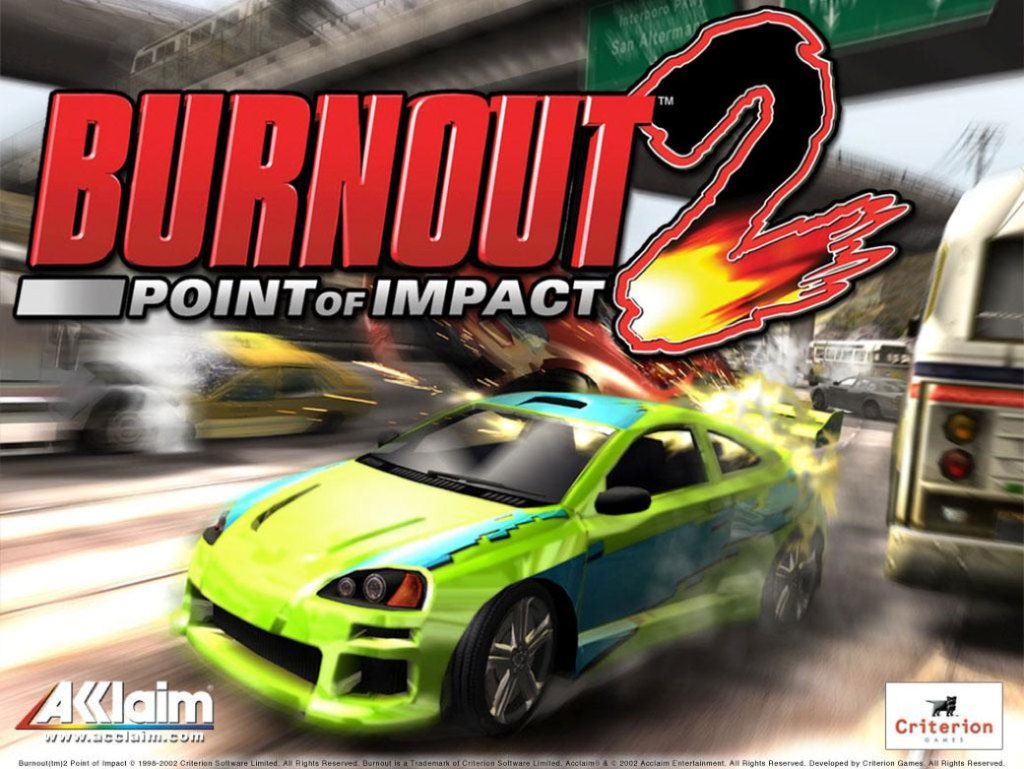 Picture of burnout 2 the game acclaim was promoting using guerrilla marketing