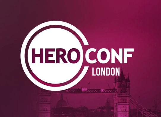 Logo for the Hero Conf, one of the upcoming London marketing events in 2016