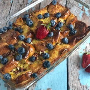 Berry Brioche Baked French Toast Biscuits Booze