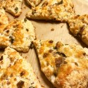 Roasted Jalapeno, Garlic, and White Cheddar Savory Scones Recipe with Smoked Sea Salt