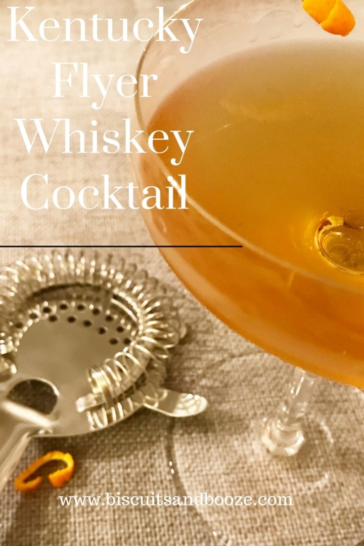 This Kentucky Flyer Whiskey Cocktail is a simple, sophisticated craft cocktail that's easy to make, and has a sweet, elegant finish. #cocktails #cocktail #craftcocktail #whiskeycocktail #homebartender #whiskeydrink #sweetercocktails #fallcocktail #luxardo #whiskey