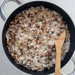 Coconut oil rice and beans