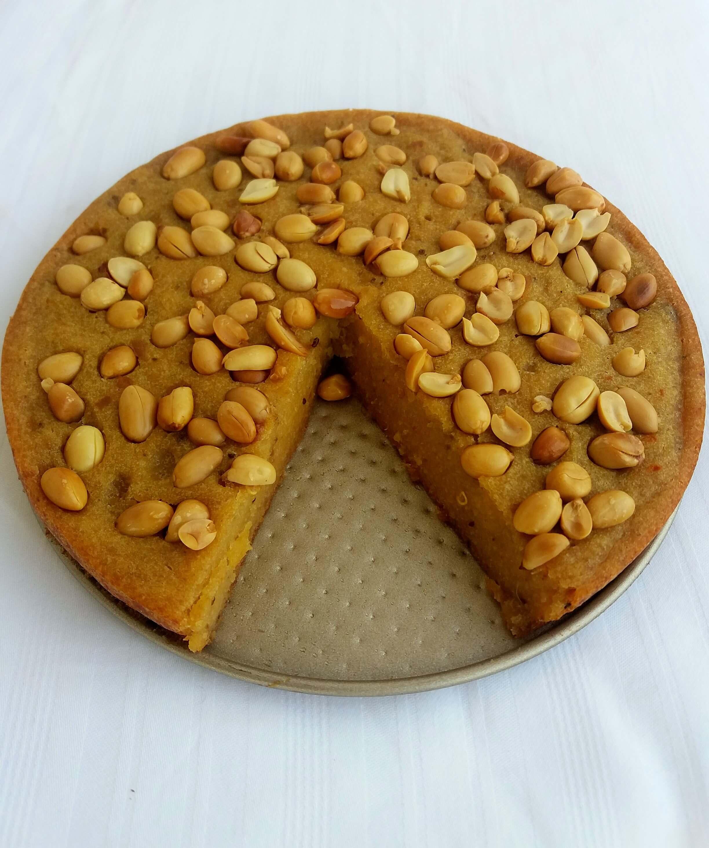 Savoury plantain cake