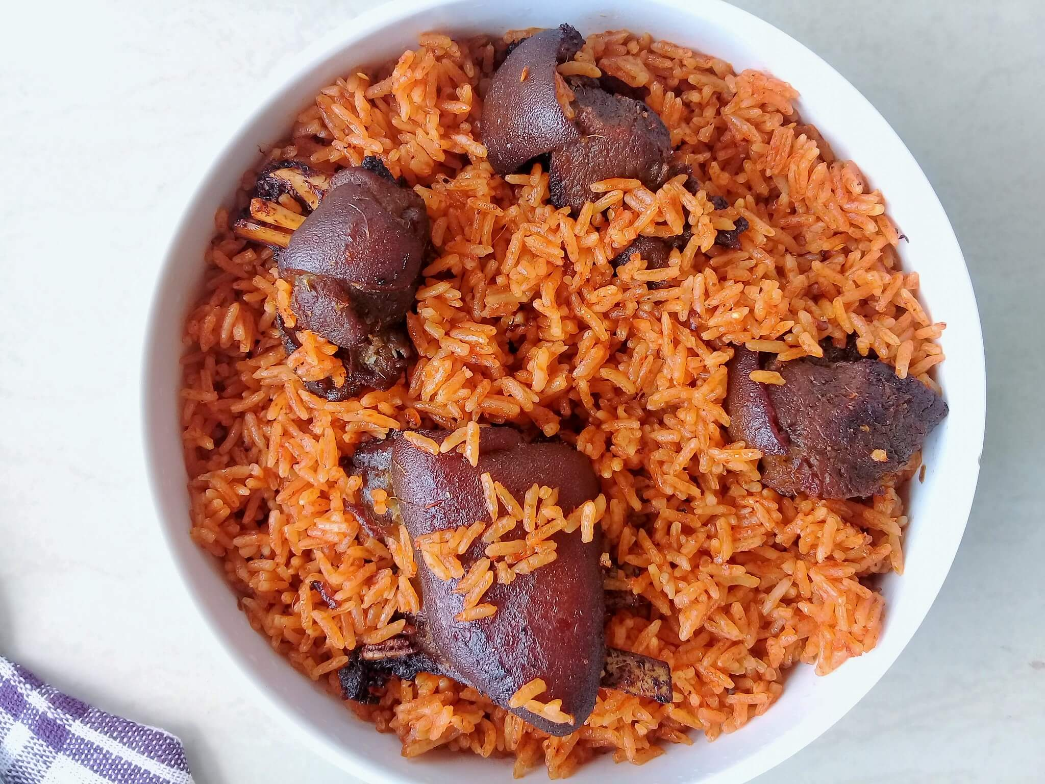 Jollof with goat meat