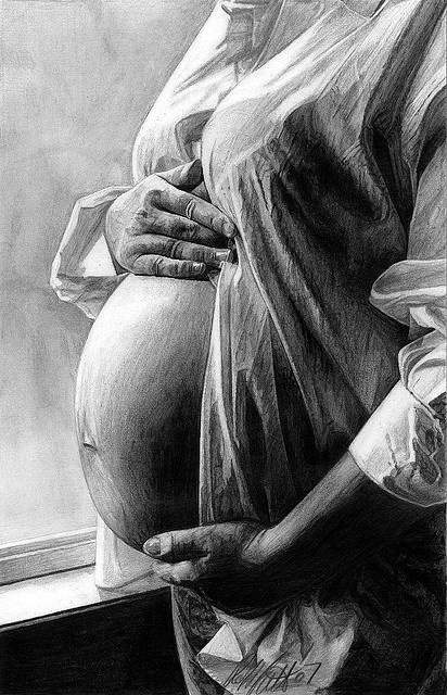 pencil-drawing-pregnancy-drawing-art-drawing-lwren-scott-pencil-drawing-art-sketches-drawing-drawing-painting-illustration-drawing-artists-robb-scott-pencil-art