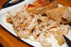 1 Shredded chicken