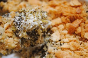 Broccoli and blue cheese casserole2