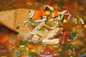 Mexican chicken and rice soup2