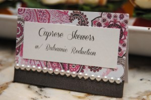 Food Card with Pearls