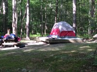 Tent on camp site