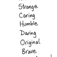 Characteristics: Interesting People