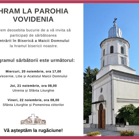 Invitatie la hramul bisericii