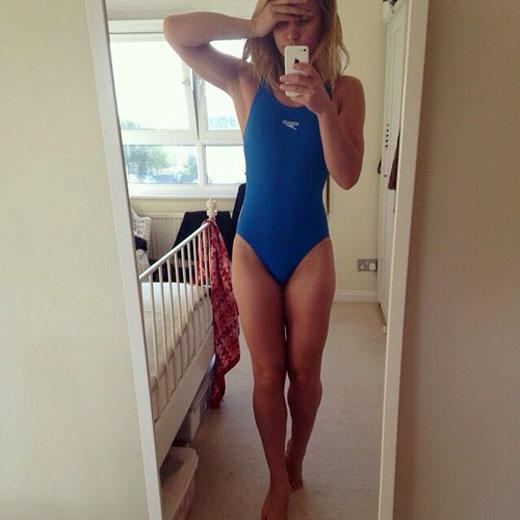 One Piece Speedo Swimsuit Selfie