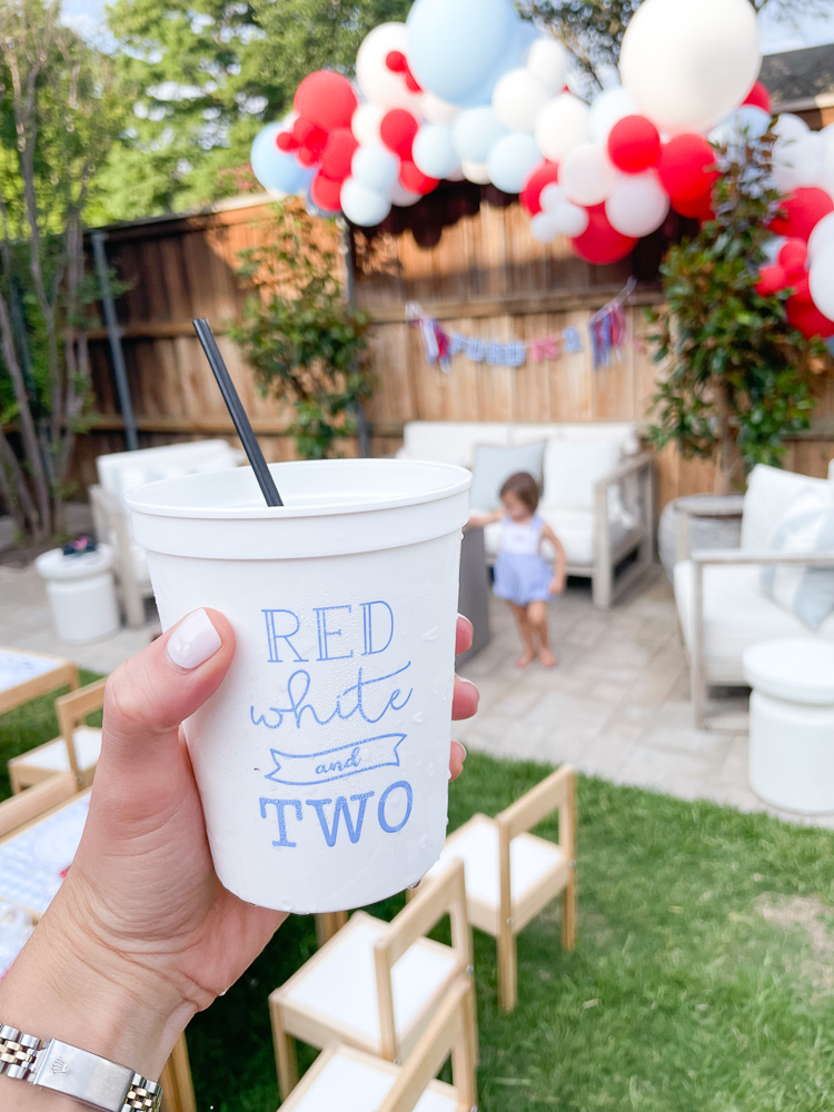 party cup red white and two