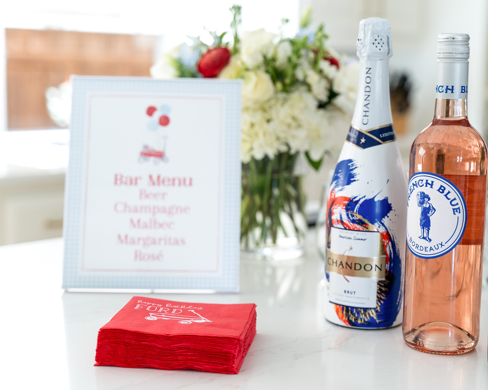 bar menu and wine
