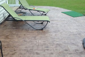 Concrete Stamped Wood Grain Patio