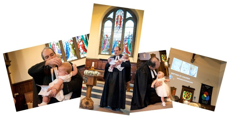 christening photo montage