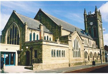 Old picture of the Wesley Church now known as 4 clocks Bishop Auckland