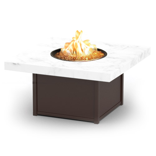Homecrest Aurora Icon Series Fire Pit Aluminum Tables