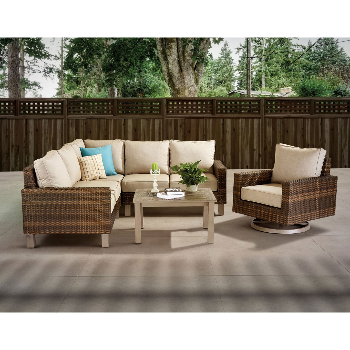 Woodard Tahoe Wicker 5pc Deep Seating | Bishop's Centre ... on Outdoor Living Wicker  id=50732
