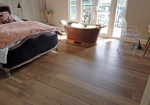 Wood floor laying services