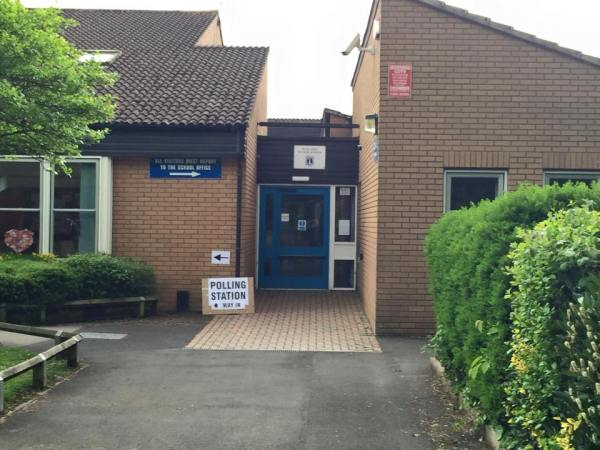 Bishop's Hull School Hall, used as our Polling Station for the General/local electios on May 7th 2015