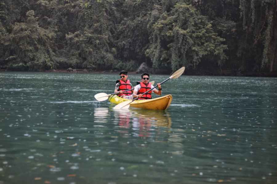photo of two people in kayak
