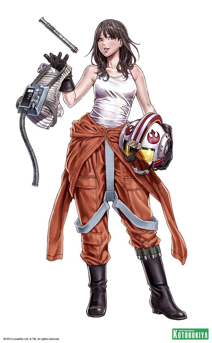 star-wars-jaina-solo-bishoujo-statue-illustration-kotobukiya-Shunya-Yamashita