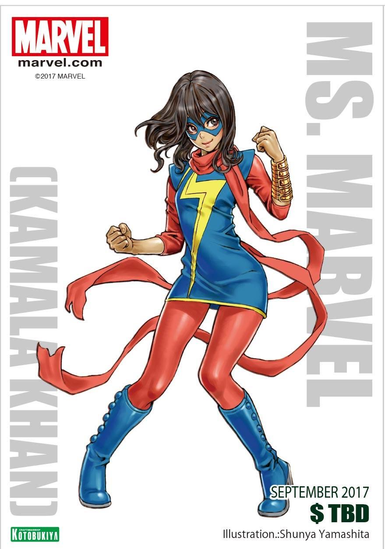 Ms. Marvel Kamala Khan Bishoujo Illustration Shunya Yamashita