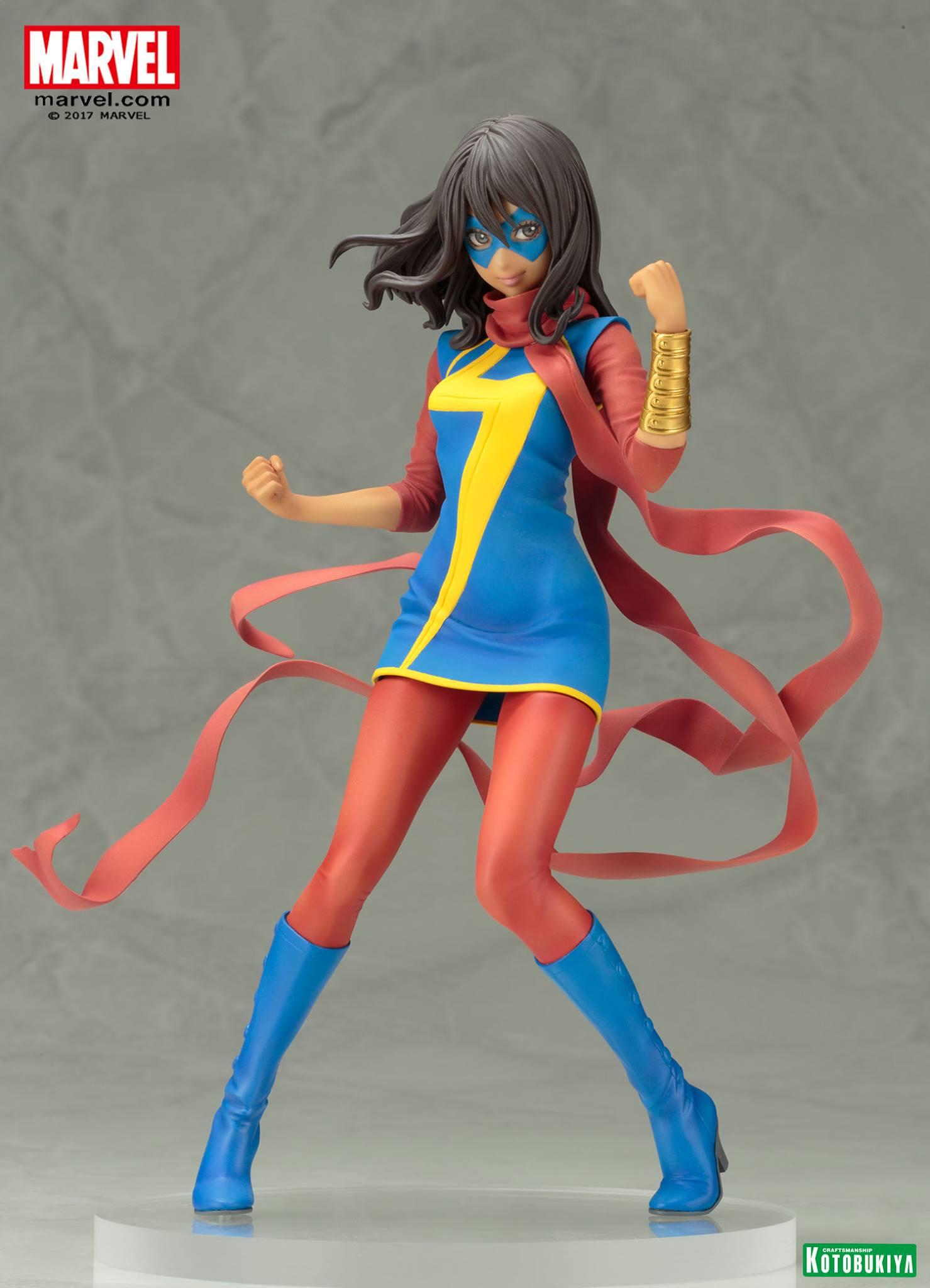 Ms. Marvel Kamala Khan Bishoujo Statue Preview Kotobukiya Marvel