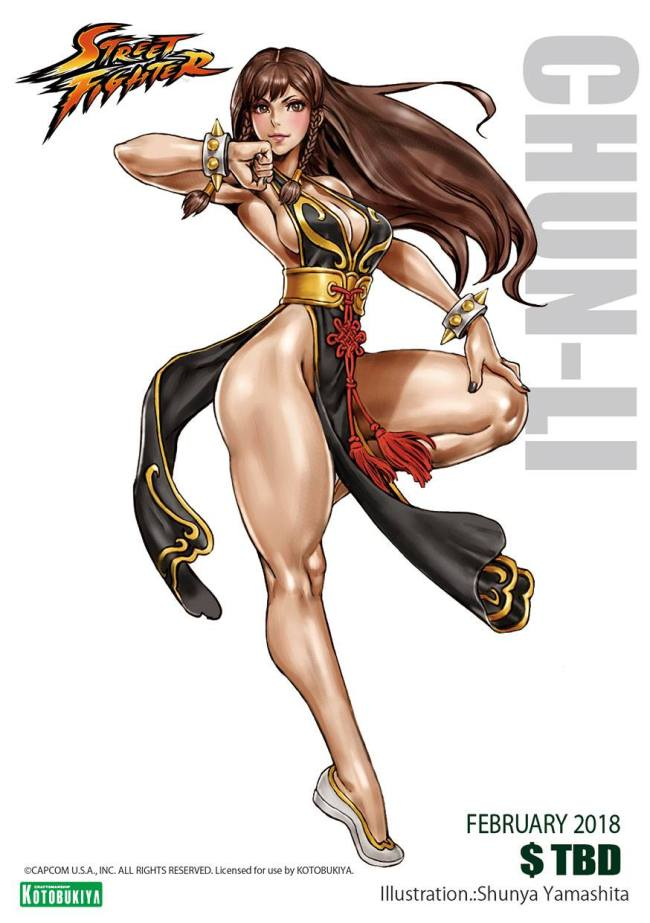 Street Fighter Chun-Li Battle Costume Illustration Shunya Yamashita Kotobukiya