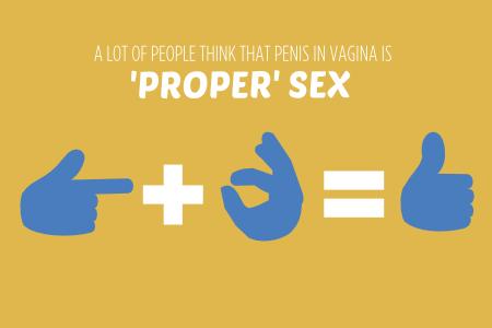 Penis in vagina sex 'proper sex'