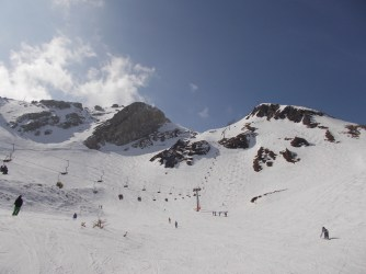 Gamsleiten - the second steepest groomed slope in the world.