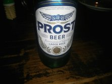 An alternative to Bintang - Prost beer.