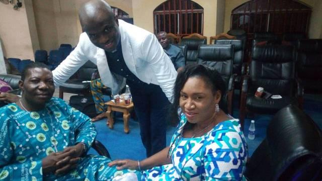 Pastor Bisi Adewale with Bishop & Rev(Mrs) Egwowa Matthew