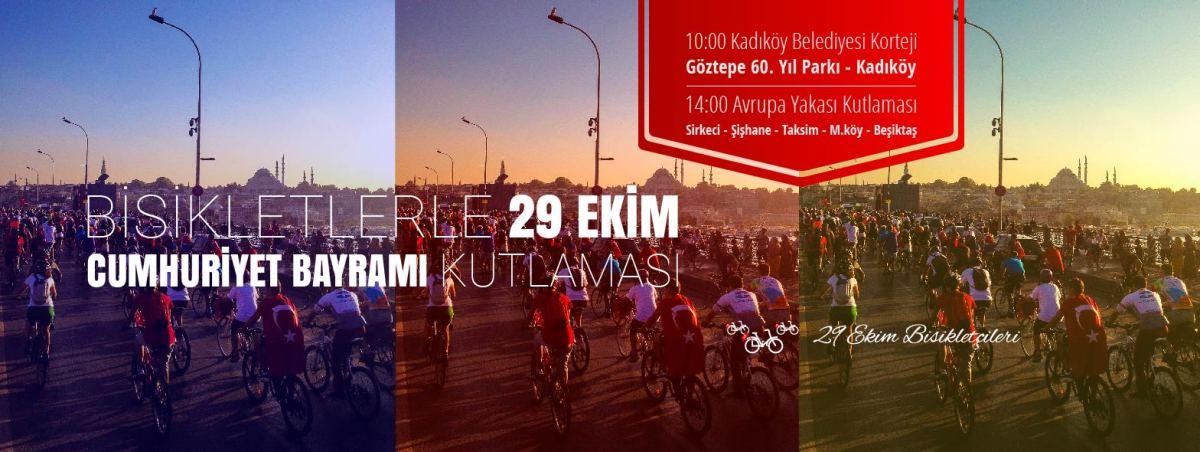 Bisikletlerle 29 Ekim Cumhuriyet Bayramı Kutlaması - 2016