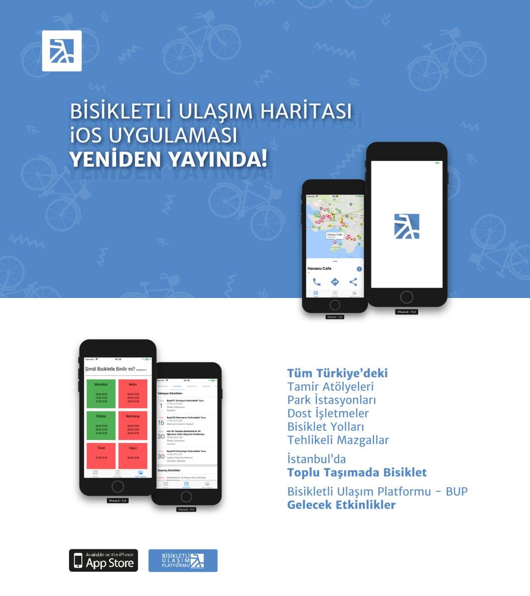 BUP Harita iOS Uygulaması Yeniden Yayında!