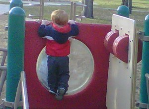 Carter playing at Kiwanis Park