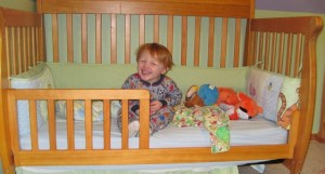 Carter in his toddler bed