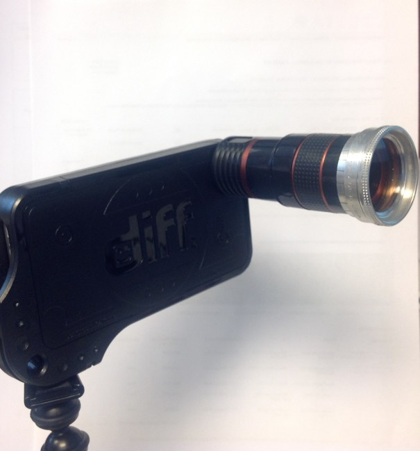 Series adapter on a telephoto lens