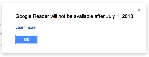 Google Reader läggs ned